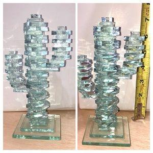 Glass Cactus Decor